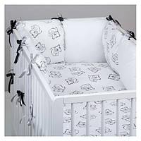 """Комплект постельных принадлежностей в кроватку (17 предметов) """"Белоснежка"""" (белый) ТМ """"Хатка"""", фото 1"""