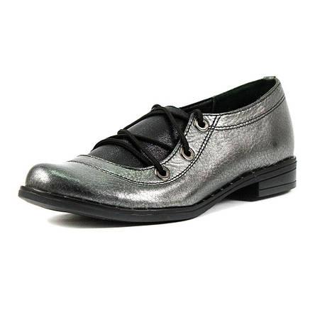 Туфли женские Vakardi V104 серебряная кожа (37), фото 2