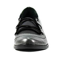 Туфли женские Vakardi V104 серебряная кожа (37), фото 3