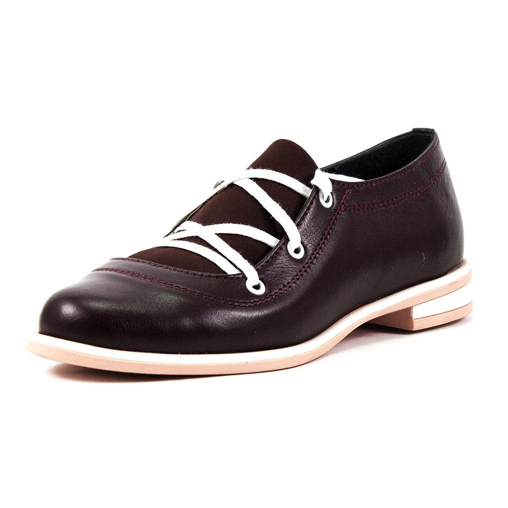 Туфли женские Vakardi V104 бордовая кожа (37)