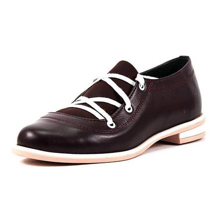Туфли женские Vakardi V104 бордовая кожа (37), фото 2