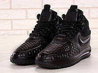 Кроссовки мужские Nike Lunar Force в стиле Найк Лунар Форс, резина, текстиль код KD-11678. Черные