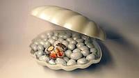 Конфеты в коробке драже Ракушка с жемчугом в белом шоколаде 200 грамм фабрика Атаг Шексна