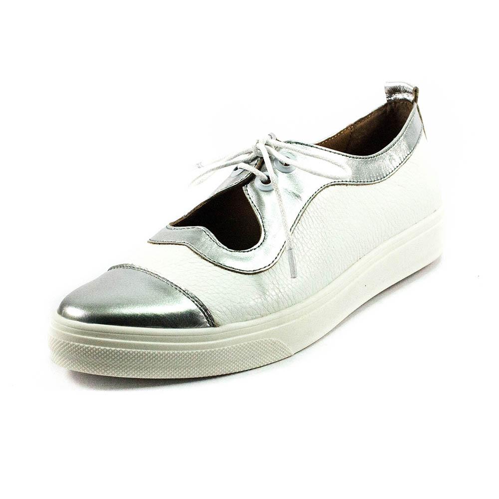 Туфли женские Tutto Shoes T3342 серебрянно-белая кожа (40)