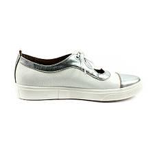 Туфли женские Tutto Shoes T3342 серебрянно-белая кожа (40), фото 2