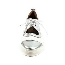 Туфли женские Tutto Shoes T3342 серебрянно-белая кожа (40), фото 3