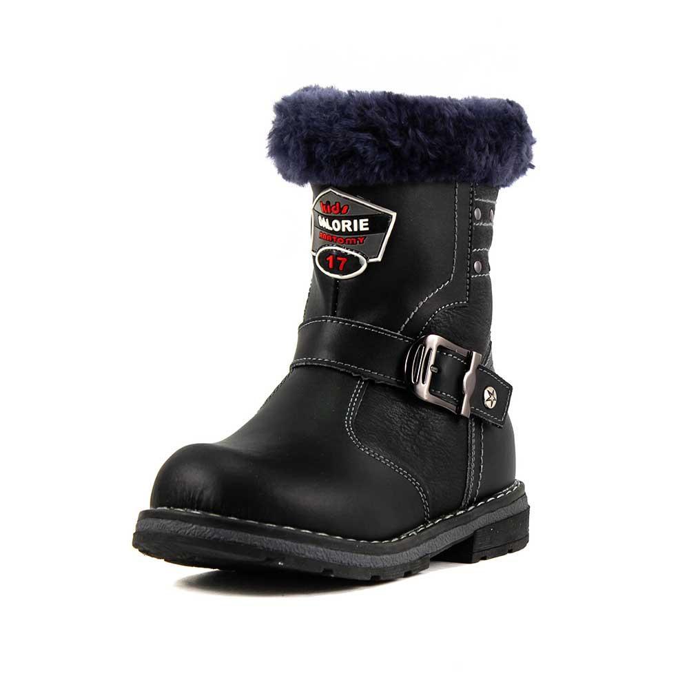 Ботинки зимние детские Калория T0506-2180A черная кожа (27)