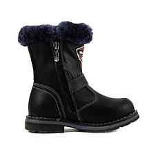 Ботинки зимние детские Калория T0506-2180A черная кожа (27), фото 2