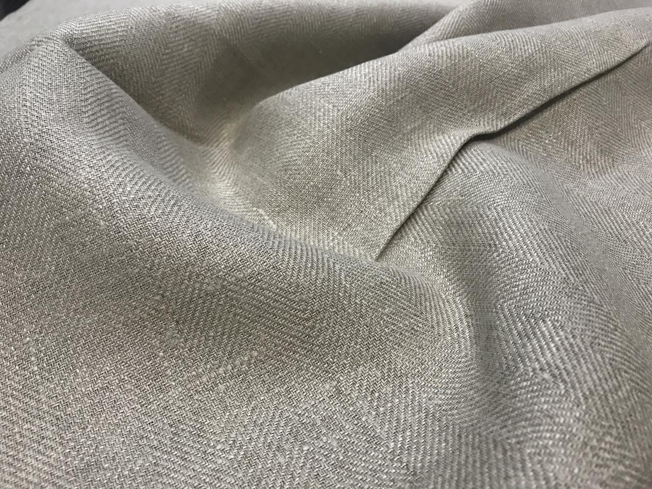 Сіра лляна тканина 100% льон колір 1/330