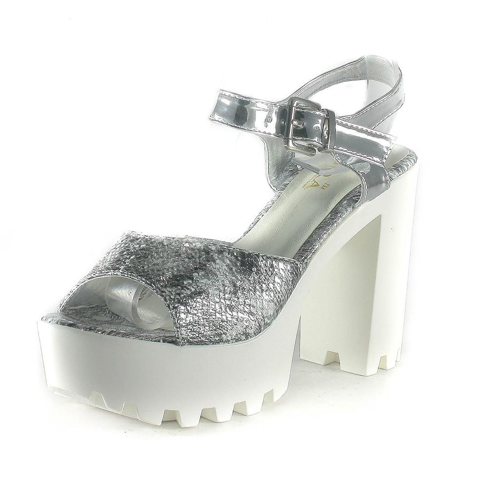 Босоніжки жіночі літні Sopra срібний 06886 (38)