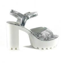 Босоніжки жіночі літні Sopra срібний 06886 (38), фото 2
