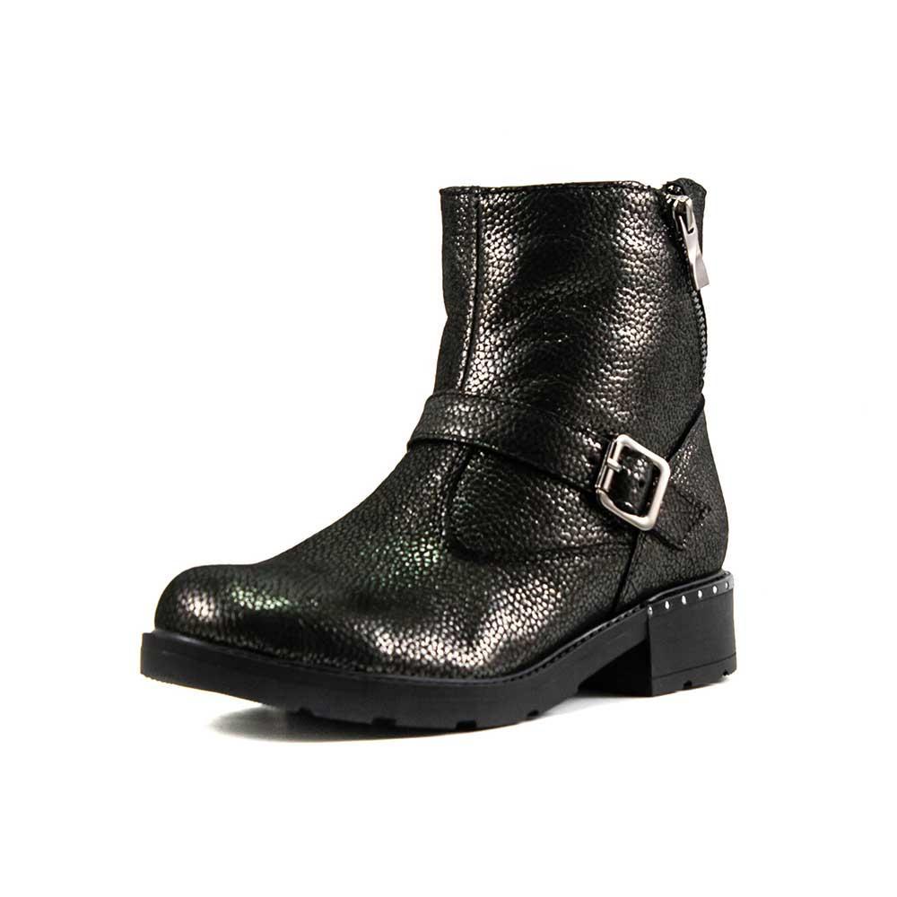 Ботинки зимние женские SND SDZJ4 черная кожа (36)
