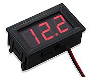 Цифровой вольтметр 0 - 99.9 В DC КРАСНЫЙ, фото 1