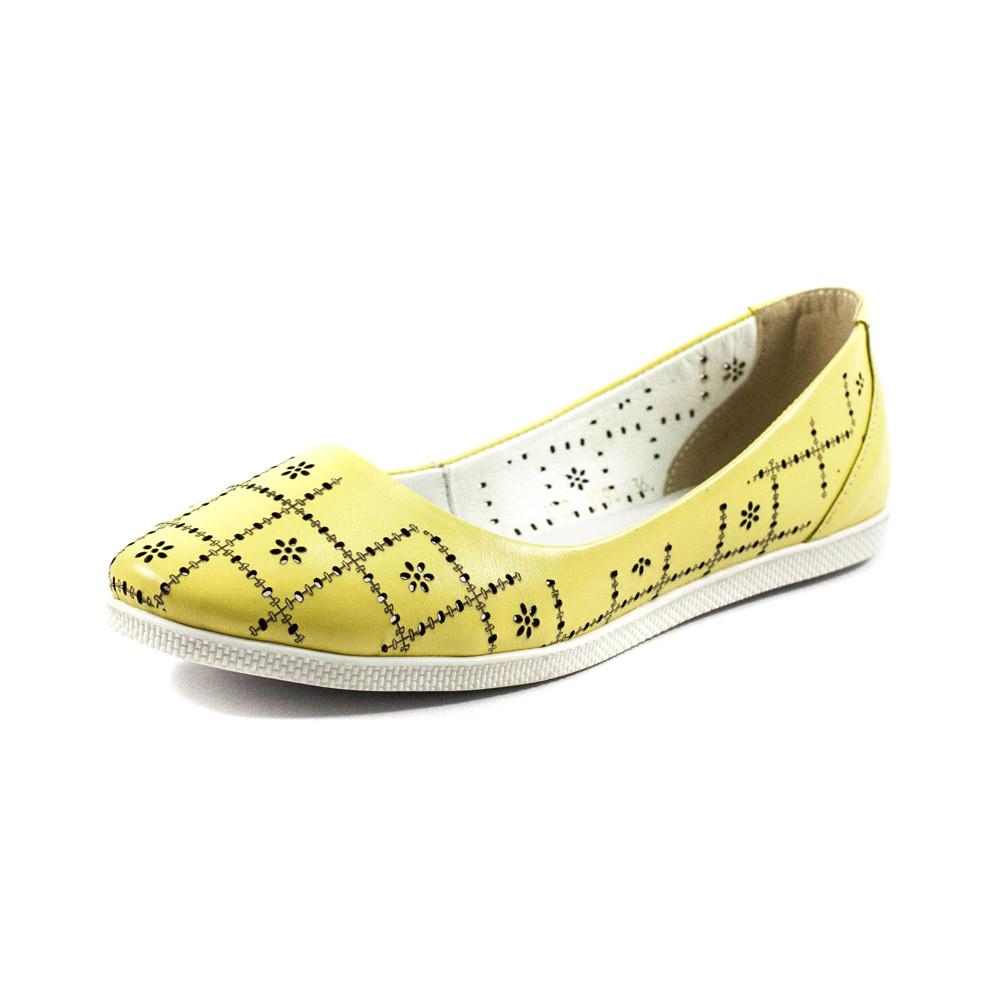 Балетки жіночі SND жовтий 11417 (37)