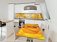Наклейка на стол Zatarga Желтая роза 600х1200мм для домов, квартир, столов, кофейн, кафе