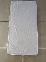 Матрас в детскую кроватку трехслойный белый КПК 12 см (кокос-поролон-кокос)