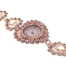 Кварцевые часы SONATA, белые фианиты, позолота РО, 95999 (1)