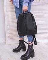 Рюкзак женский черный кожаный М260black молодежный из натуральной кожи, фото 1