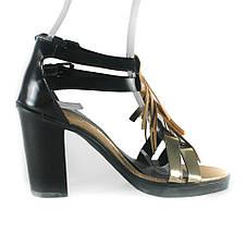 Босоножки женские Rovigo-Rifellini R866-Y-399 черно-золотые (37), фото 2