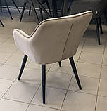 Кресло ANTIBA  велюр пудровый серый Concepto (бесплатная доставка), фото 6