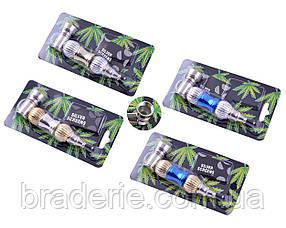 Трубка курительная металлическая YD-324 с сеточками