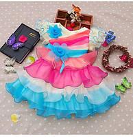 Пышненькое платье разноцветное