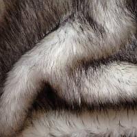 Искусственный мех кролика бело- серий