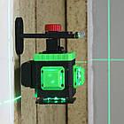 Лазерный уровень для ► СТЯЖКИ ПОЛА 3D 12 линий Kaitian + ПУЛЬТ + КРОНШТЕЙН + АКБ 8 часов работы KT-MG3D5SC, фото 2