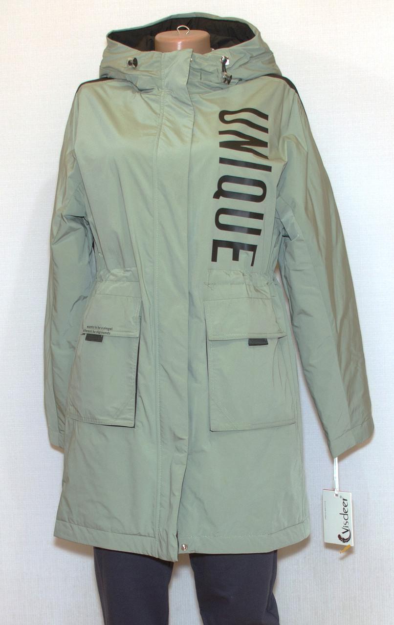 Куртка подовжена жіноча весна осінь visdeer (XXL)