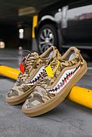 Кроссовки мужские весенние осенние качественные модные Vans Old Skool Brown Camo