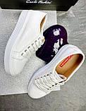 Женские кроссовки кожаные весна/осень белые Calo Pachini 4503/20-91, фото 5