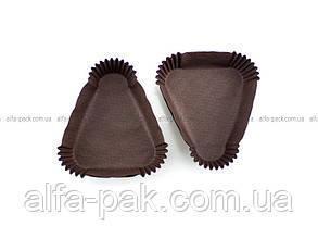 Тарталетка треугольная, кориченая - одноразовые формочки для выпекания