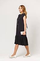 """Женское вечернее платье """"Черная икра"""", код К-012, черное"""
