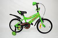 """Дитячий велосипед Remmy Boss 16"""" салатовий"""