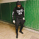 Карго штаны черные с лямками подростоковые размеры (чорні штани для підлітків), фото 5