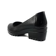 Туфли женские MISTRAL M592 черная кожа (36), фото 2