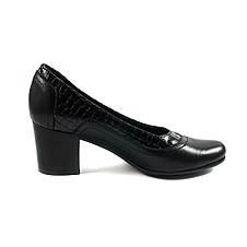 Туфли женские MISTRAL M501 черная кожа (36), фото 2