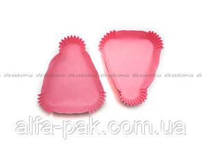 Тарталетка треугольная, розовая - одноразовые формочки для выпекания