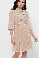 Нежное летнее платье с бантиком и поясом
