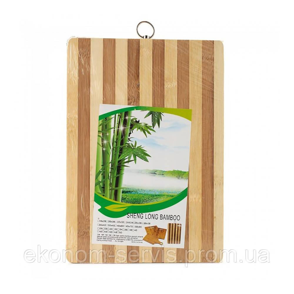 Доска раздел+кольцо 24х33 см. бамбук