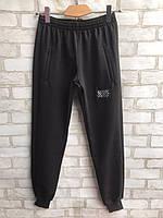 "Спортивные штаны мужские на манжетах ""Off-White"" размеры норма 48-54, черного цвета"