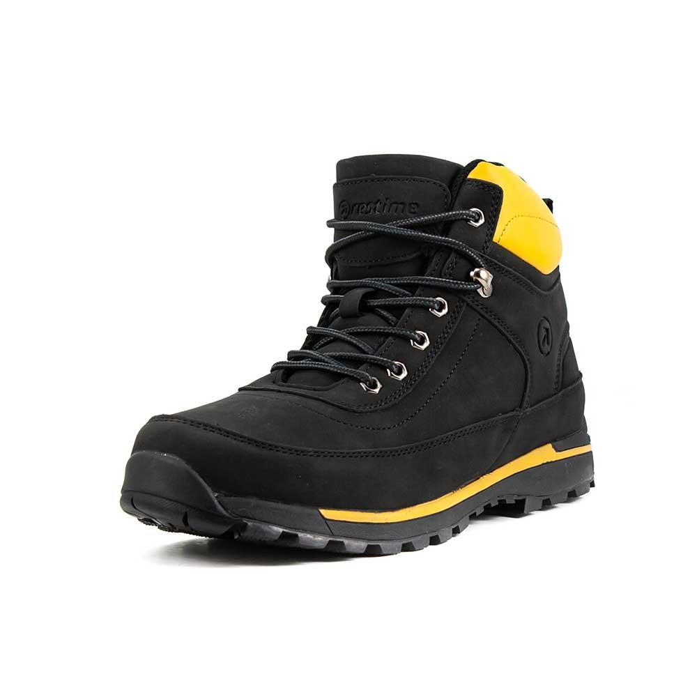 Ботинки зимние мужские Restime KMZ18620 черные (44)