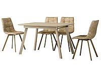 Раздвижной стол TM-170 капучино сатин 120/160 Vetro Mebel