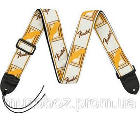 Гитарный ремень Fender 2 Monogrammed белый/коричневый/желтый