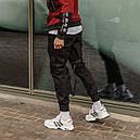 Зауженные карго штаны (джоггеры) с лямками черные мужские от бренда ТУР Ёсимицу (Yoshimitsu), фото 2