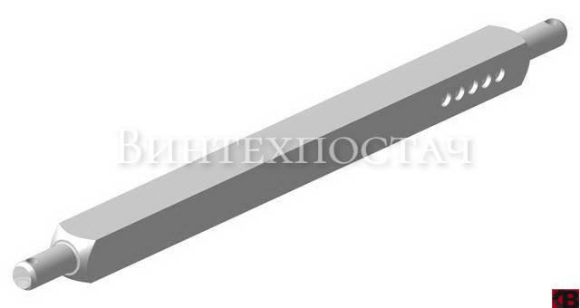 Вал ПЛН 01.031 квадратний плуга  45х45, фото 2