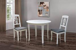 Обідній стіл для маленької кухні Омега Модуль Люкс, білий
