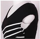 Чёрно-белое полосатое платье L, фото 5