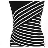 Чёрно-белое полосатое платье L, фото 4