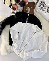 Бомбер куртка женская белый черный хаки